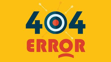 Страница 404 ошибки - такой страницы не существует